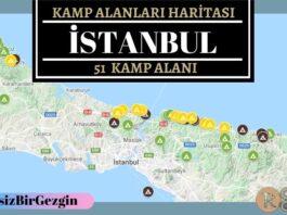 İstanbul Ücretli ve Ücretsiz Kamp Alanları Haritası
