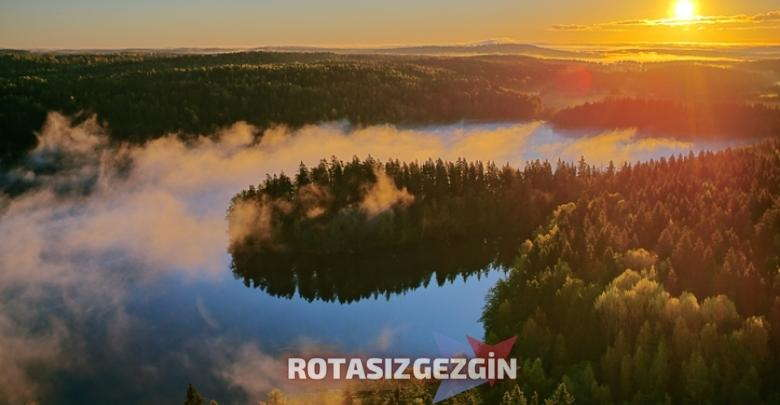 Finlandiya Kotisaari Adasi Aksam Gunesi