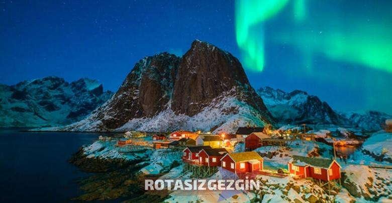 Finlandiya Kotisaari Adasi Kuzey Isiklari