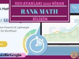 Rank Math SEO Eklentisi Ayarları Nasıl Yapılır 2020