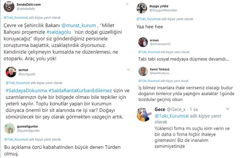 Salda Gölü Twitter Tepkileri