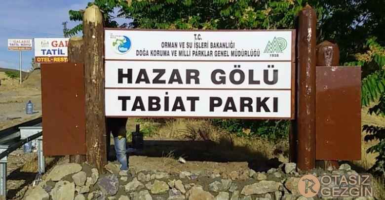 2- Hazar Gölü Tabiat Parkı Kamp Alanı