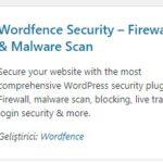 Wordfence Security Eklentisi
