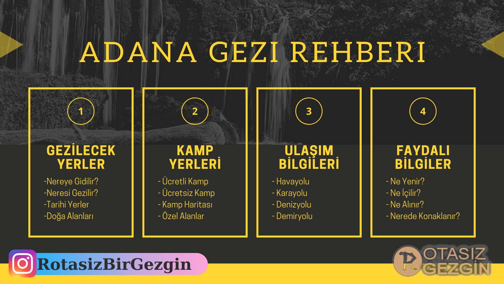 1 Adana Gezi Rehberi, Gezilecek Yerler