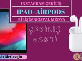 Instagram Çekiliş - Ipad Air 2019 + AirPods Gen2 Hediye