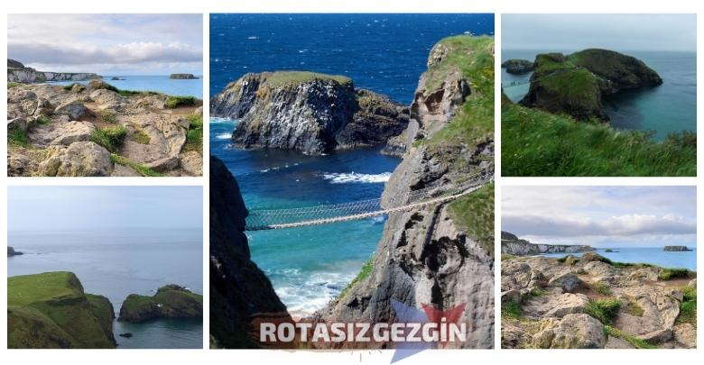 Kuzey Irlanda Carrick-a-Rede Koprusu