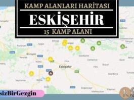Eskişehir Ücretli ve Ücretsiz Kamp Alanları Haritası