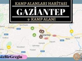 Gaziantep Ücretli ve Ücretsiz Kamp Alanları Haritası