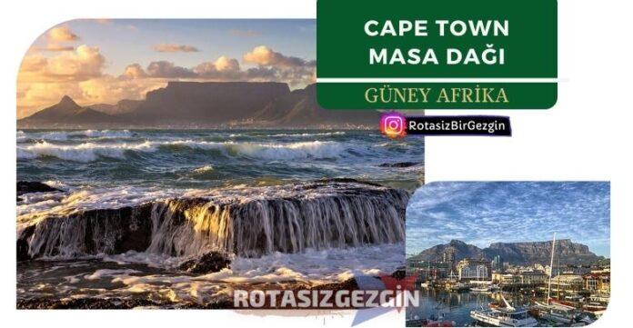 Cape Town Table Mountain Güney Afrika