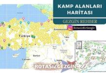 Kamp Alanları Haritası İlgi Duyuyor - Rotasız Gezgin
