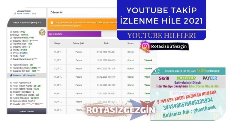 Youtube Abone Beğeni ve İzlenme Hilesi 2021