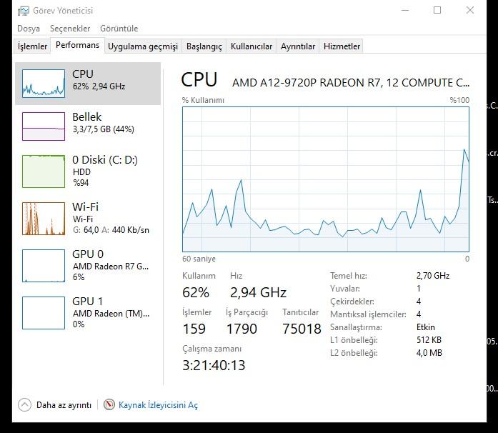 Programsız Windows 10 hızlandırma